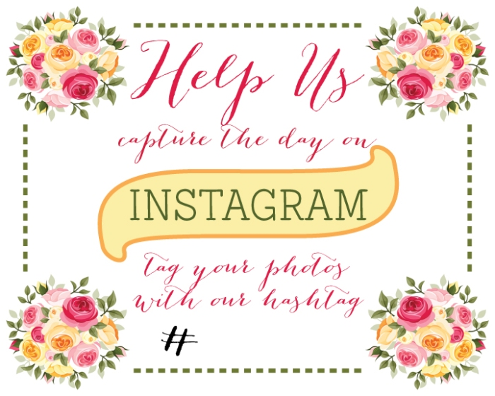 Share your wedding on Instagram