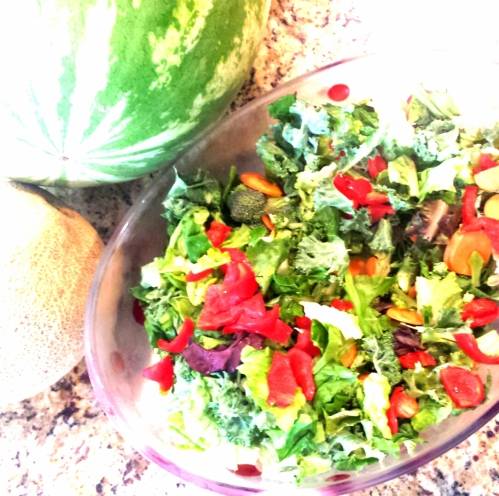 Colorful and bright salad